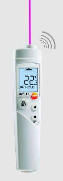 Infrarotthermometer mit Display sendet Infrarotlaserstrahl und Alarmsignal