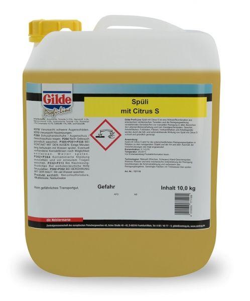 Spüli mit Citrus S im 10kg-Plastik-Kanister universell einsetzbar für manuelle Reinigungstätigkeiten