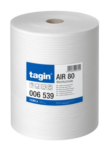 Wischtuchrolle tagin Air 80 in weiß mit 500 Blatt