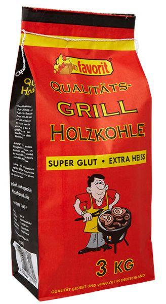 Favorit Qualitäts-Grill-Holzkohle im 3 kg Sack