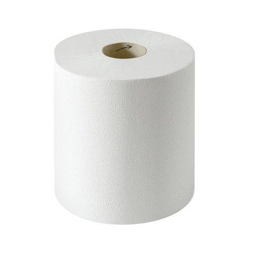 Eine weiße Handtuchrolle