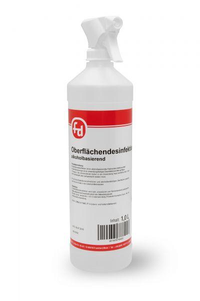 Oberflächendesinfektion in der 1-Liter-Flasche mit Sprühpistole