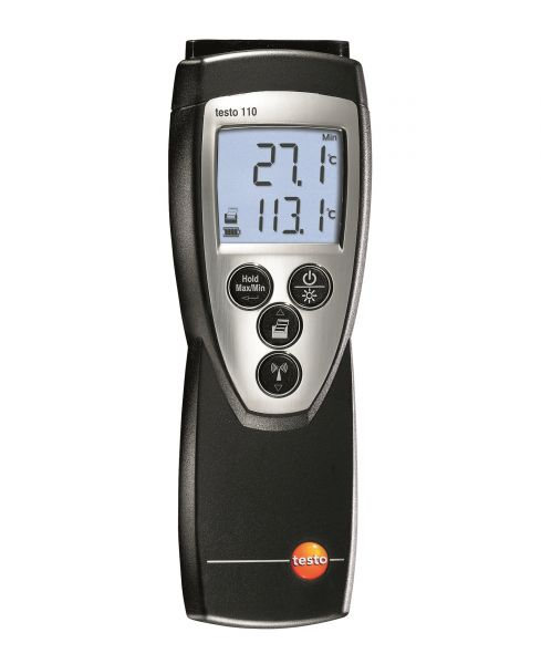 Temperaturmessgerät mit vier Tasten und leuchtendem Display