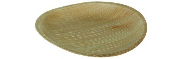 Runder Teller aus Palmblatt ohne Rand