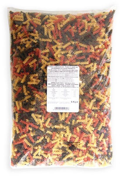 VALDIGRANO Fusilli Tricolore im 5 kg Beutel