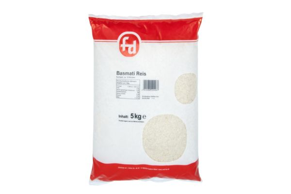 Basmati Reis im 5 kg Beutel