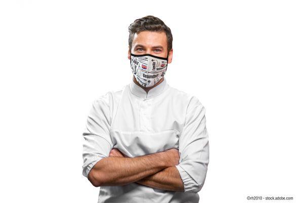 Stilvolle Maske im Gilde-Design - schwarz/weiß