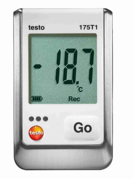 Datenlogger für die Lufttemperatur mit grüner Displayanzeige