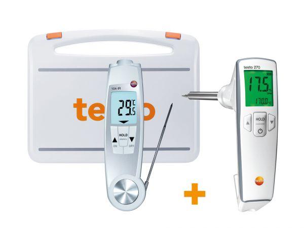 Infraroteinstechthermometer und Frittieröltester im Set mit Koffer