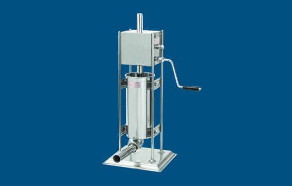 Stand-Wurstfüllmaschine aus Edelstahl mit Handkurbel