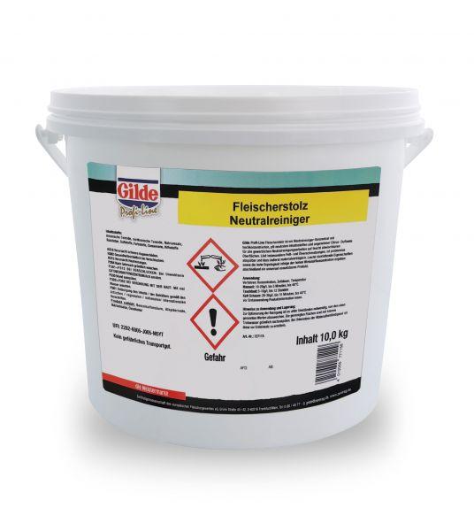 Neutralreiniger Fleischerstolz mit Zitrusnote für Fett- und Ölverschmutzungen im 10-Kilogramm-Eimer