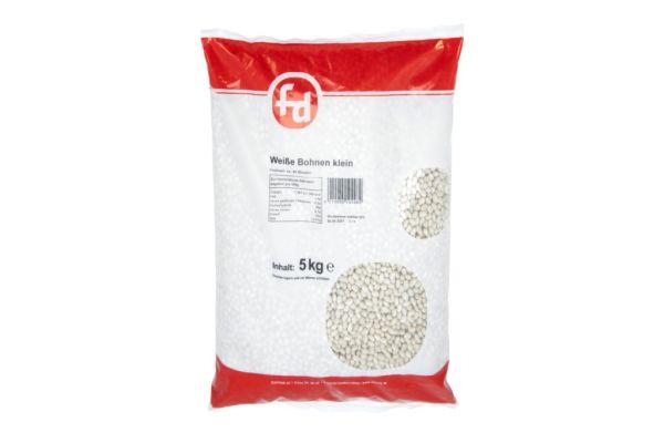 Kleine weiße Bohnen im 5 kg Beutel