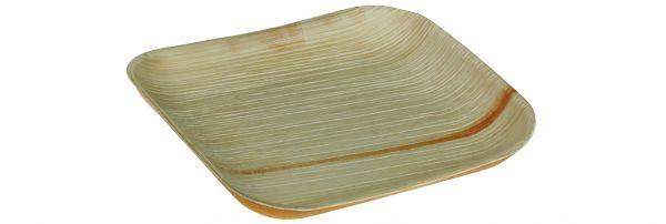 Quadratischer Einwegteller aus Palmblatt ohne Rand