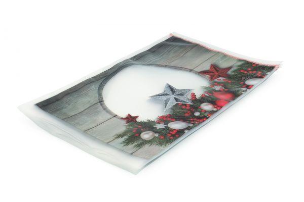 Siegelrandbeutel mit Weihnachtsmotiv