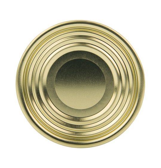 Verschlussdeckel ohne Aufreißlasche und Beschriftung für Weißblechdose mit 73 Millimeter Durchmesser