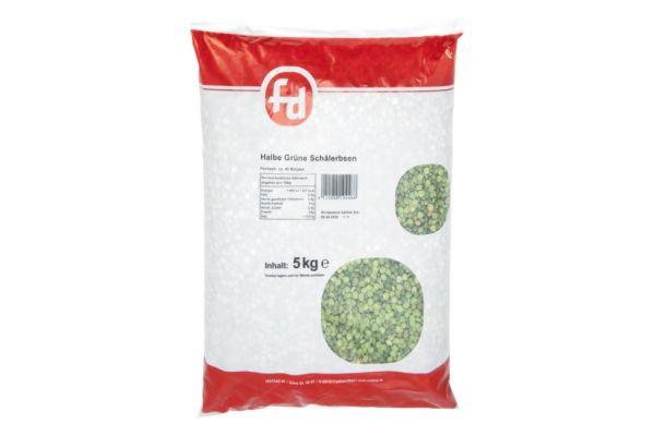 Grüne, halbe Schälerbsen im 5 kg Beutel