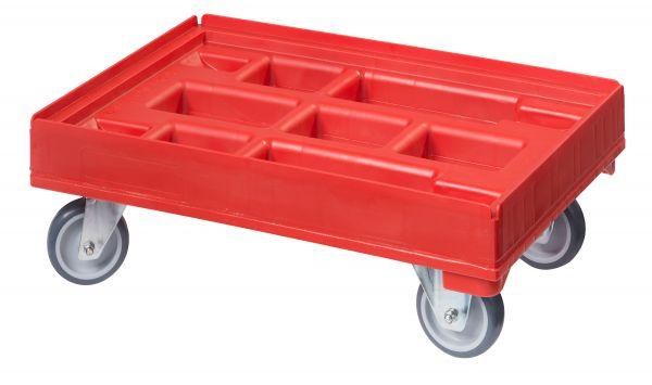 Hygieneroller rot, 2 Lenk- und 2 Bockrollen