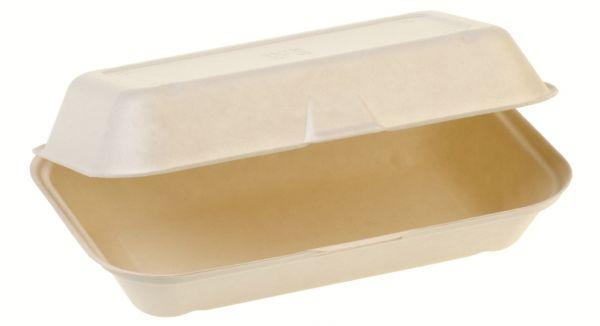 Bio Food Box mit Klappdeckel aus Zuckerrohr
