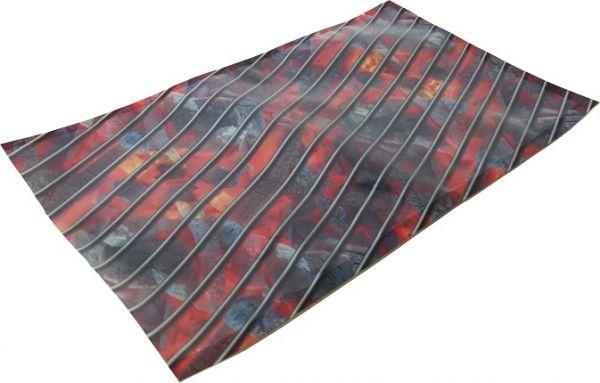 Siegelrandbeutel mit Grillmotivdruck im Design von Rost auf glühenden Kohlen