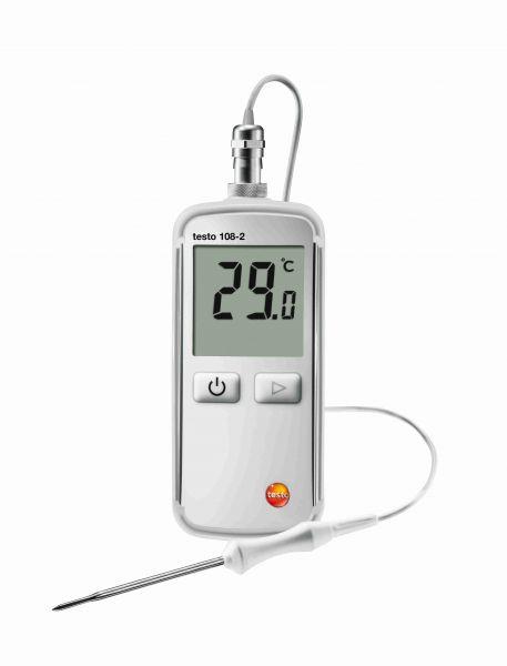 wasserdichtes Thermometer testo 108-2 mit arretierbarem Fühler