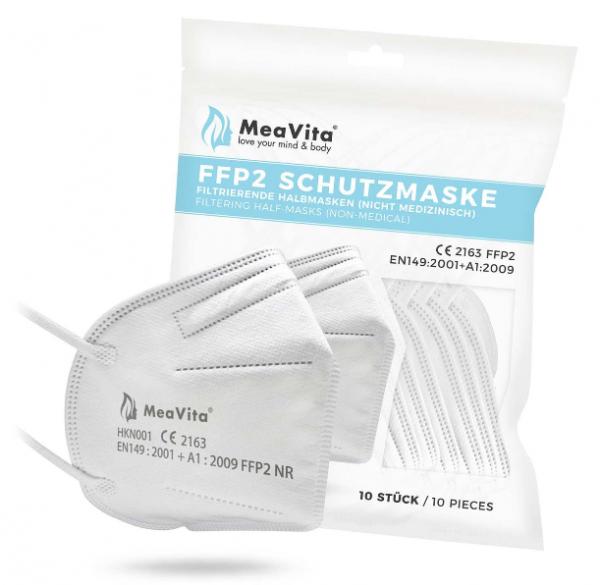 MeaVita FFP2 Schutzmaske mit Produktverpackung