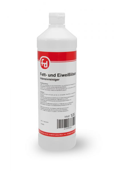 Farbloser Fett- und Eiweißlöser in der 1-Liter-Flasche mit Klappscharnierverschluss