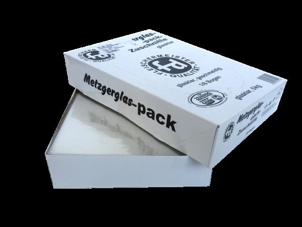 Pack Metzgerglas-Zuschnitte glasklar 1/8 Bogen