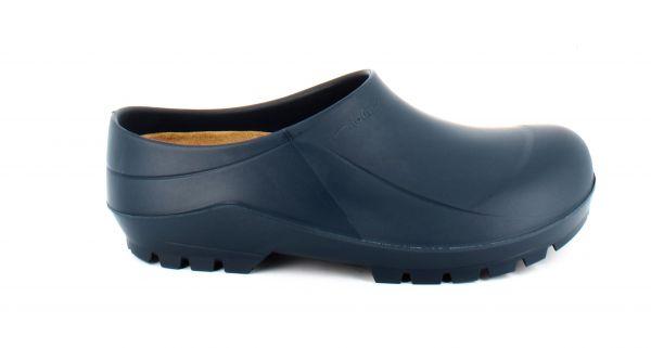 Blauer PU-Clog mit einlegbarer Korksohle
