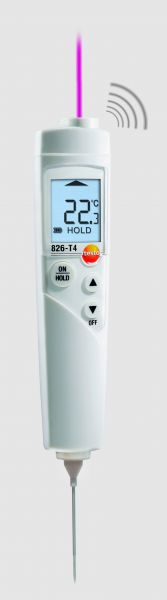 Infrarotthermometer mit Einstechfühler und leuchtendem Display