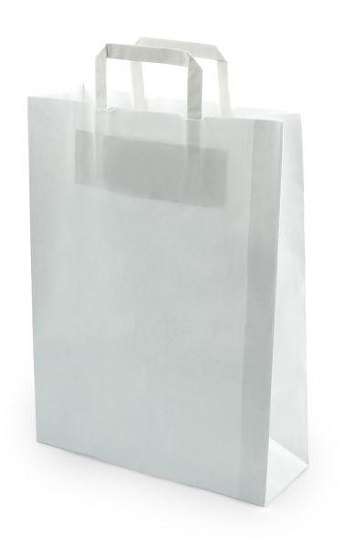 Papiertragetasche, 26x10x36 cm, weiß