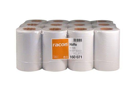 12er Pack racon® comfort Handtuchrollen hochweiß & einlagig