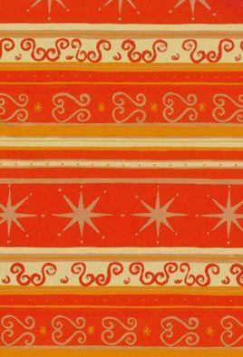 Rotes Weihnachtsgeschenkpapier Muster 7 mit Verzierungen in gold