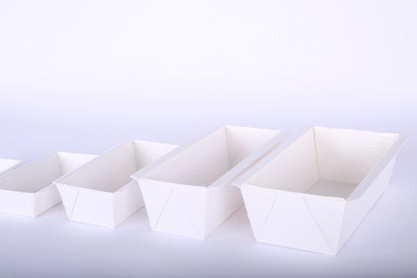 Papierbackform weiß in Größen 500 g, 1 kg, 2 kg und 3 kg