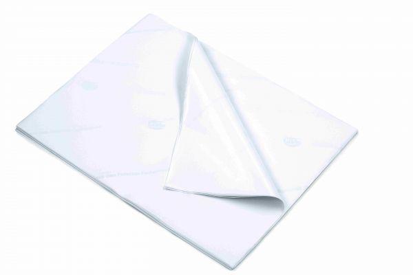 Einwickelpapier mit PE-Beschichtung und aufgedrucktem blassen Gilde-Logo
