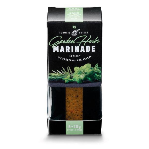 Verpackung mit portionierter Gewürzmarinade für Grillgut mit Geschmack Garden Herbs durch Kräuter