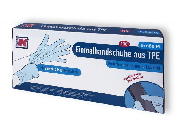 Produktverpackung TPE Einmalhandschuhe