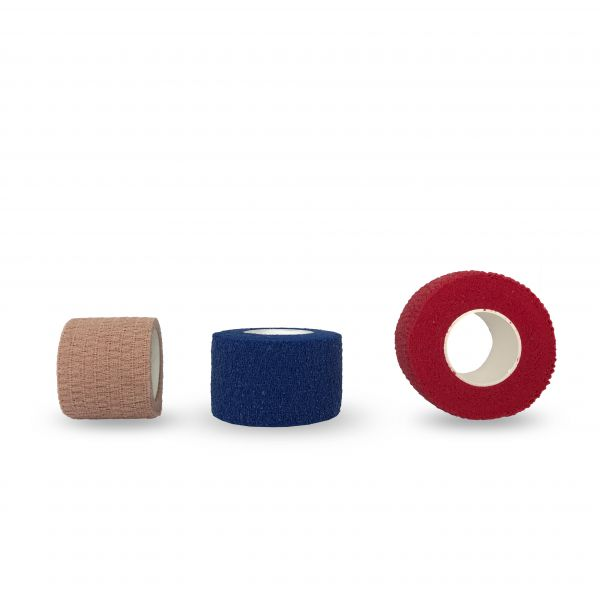 Pflastertape Be-Schu-Plast auf Rollen in rot, blau und hautfarben