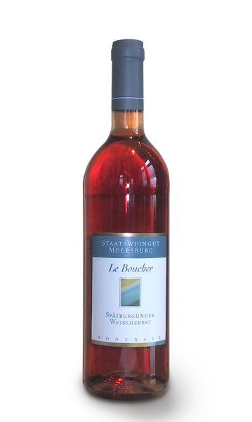 0,75 Liter Flasche Roséwein Le Boucher vom Staatsweingut Meersburg der Sorte Spaetburgunder Weißherbst