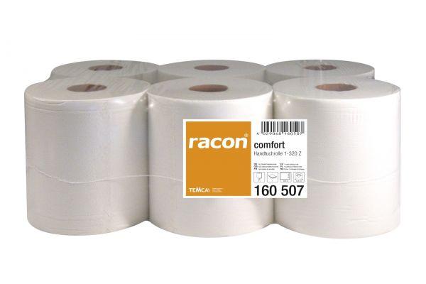 6er Pack racon® comfort Handtuchrollen hochweiß & einlagig