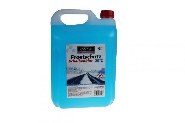 blaues Frostschutzmittel für Autoscheiben in milchigem Plastikkanister mit 5 Liter Fassungsvermögen