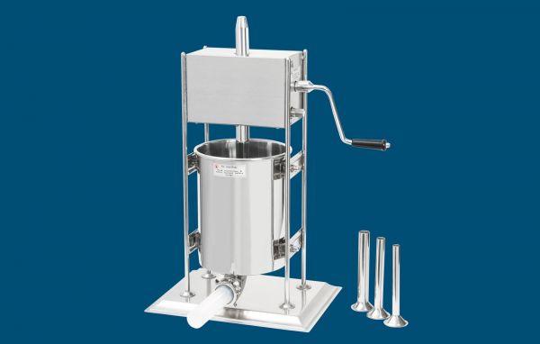 Stehende Wurstfüllmaschine aus Edelstahl 10 Liter
